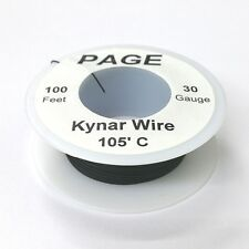 100' Page 30AWG BLACK KYNAR Insulated Wire Wrap Wire 100 Foot Roll ~ Made In USA