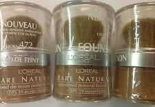 LOT OF 10 - L'Oreal Bare Naturale Mineral Makeup - COCOA 472 NEW