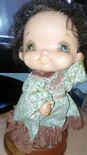 Vintage Rubber Doll Anime Manga Big Eyes Music Box Made in Japan Cute!