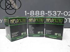 Hiflo Premium Oil Filter HF132 - 3 Pack - DRZ125 KLX125L King Quad AN400 Burgman