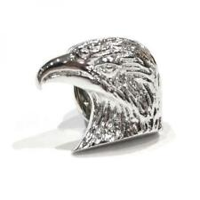 SILVER PLATED EAGLES HEAD Design bavero pin badge AMERICAN EAGLE AMERICA REGALO NUOVO