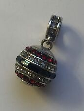 Brighton Luv USA America Patriotic Red White & Blue Swarovski Crystal Bead Charm