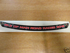 Isle of Man Road Races 2016 - TT Visor Decal Sticker - BLACK + RED