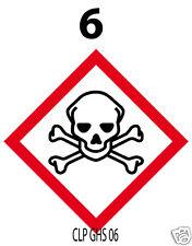 100 autocollants OBLIGATOIRES pour produits dangereux [CLPGHS 06][1cm²]