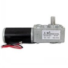 New GW31ZY DC12V 1.7A 100rpm Turbine Worm Gear Motor Caterpillar Drive Stepping