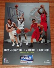 March 4, 2011 NBA Basketball Game in London On-Site Program-Raptors vs Nets-NM