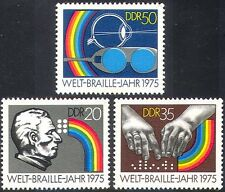 Germany 1975 Braille/Blind/Health/Eyes/Hands/Welfare/Glasses 3v set (n28233)