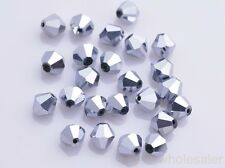 Wholesale 1000pcs 4mm Faceted Crystal Glass Bicone Bipyramid Loose Spacer Beads