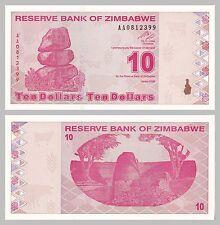 Simbabwe / Zimbabwe 10 Dollars 2009 p94 unz.