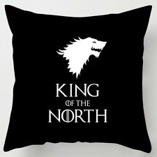 King of the North BLACK game of thrones inspired cushion fathers day