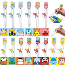 Children Kids Eat Easy Use Beginner Chopsticks Cartoon Training Helper Learning