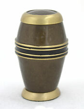 Small cremation Urn for ashes , funeral memorial keepsake urn , Brown Hammered