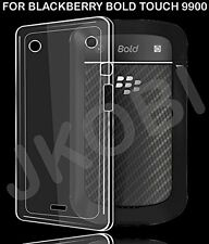 Soft Silicone TPU Back Case Cover For Blackberry bold Touch 9900 -Transparent