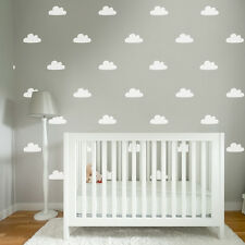 Baby Nursery Cloud Pattern Wall Paper Look Removable Sticker Vinyl Decal Decor
