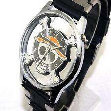 One Piece Monkey D Luffy Pirate Flag Skull Wrist Watch Cosplay Anime Gifts I