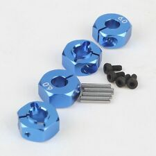 4x Blue Aluminum 6.0 Wheel Hex 12mm Drive With Pins&Screws HSP HPI Tamiya Car