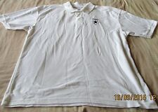 Men's White Fruit Of The Loom Polo T Shirt Size L