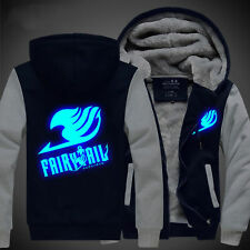 Anime Fairy Tail Unisex Clothing Thicken Jacket Sweater Hoodie Luminous Cosplay