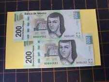 CURRENCY MEXICO~SOR JUANA~200 PESO B.DE MEX~VHTF~17-OCT-13~TWO SISTER NOTES - AB