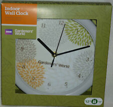 GARDENERS' WORLD QUARTZ INDOOR WALL CLOCK