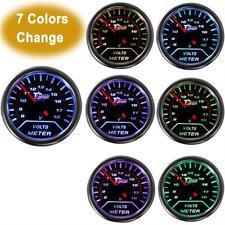 """2""""52mm 7-color change LED 8-18V Car Auto Volt Voltage Gauge Meter Universal"""