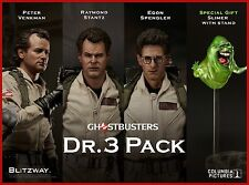 Blitzway Ghostbusters 1984: Dr.3 Pack Figure Set Peter+Raymond+Egon+Slimer