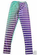 Wizards of the West Color Swatch Leggings Size S-M Green & Purple Hex Code Paint