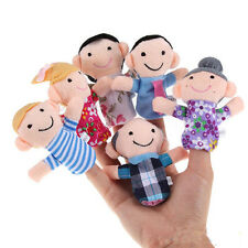 6x Cute Baby Kids Plush Cloth Play Game Learn Story Family Finger Puppets Toys P