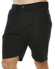 "NEW + TAG BILLABONG MENS SIZE 34"" NEW ORDER TWILL WALK SHORTS STRETCH BLACK"