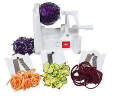 Paderno World Cuisine A4982799 Spiralizer Tri-Blade Vegetable Spiral Slicer