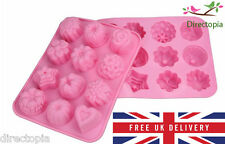 12 Cell Silicone Cake Flower Heart Soap Jelly Chocolate Ice Mould UK