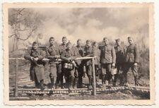 Foto Gruppe Soldaten Tigoda Stellung 1943 bei Leningrad IIWW !