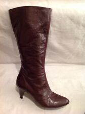 Jones Boot Maker Brown Mid Calf Leather Boots Size 40