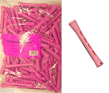 "Long Pink 1 LB BAG, 3"" Concave Hair Perm Rod  w/ elastic band       LMS"