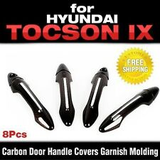 Carbon Door Handle Covers Garnish Molding for HYUNDAI 10 - 15 Tucson ix / ix35