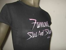 NWT FSAS FAMOUS STARS AND STRAPS 1999 GIRLS FITTED GRAPHIC BLACK TEE  SHIRT Sm