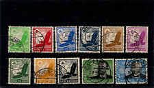 3RD REICH 1934 Airmail Air Set Used 526-536 529-539