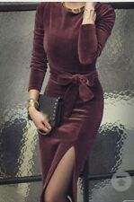 Maroon Velvet Dress Size 8 - New