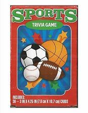 Sports Trivia Games 36 Flash cards New soccer basketball football baseball