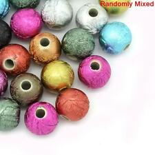50 ASSORTED ACRYLIC STARDUST SPACER BEADS~10mm~NECKLACE~BRACELET~WINE CHARM(5H)