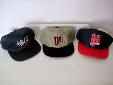 NEW NOS Lot of 3 1990's Minnesota Twins Dairy Queen Hats-One Size-2 Snapbacks