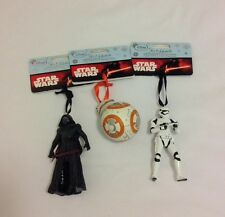 DISNEY SKETCHBOOK STAR WARS HOLIDAY ORNAMENTS ~ BB-8, KYLO REN, STORM TROOPER