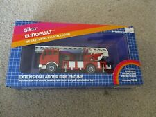 Siku Eurobuilt Extension Ladder Fire Engine 1/55 Scale #2819 MIB See My Store