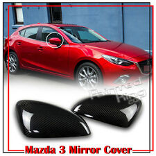 Carbon Fiber For Mazda 3 3rd Sedan Hatchback Side View Mirror Cover Trim Sport