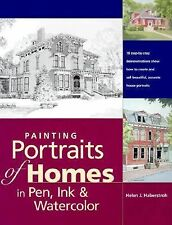 Painting Portraits of Homes in Pen, Ink & Watercolor