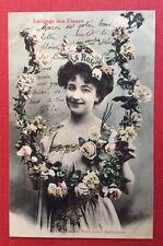 CPA. 1903. LA ROSE. Langage des Fleurs. Bergeret. Jeune Fille. Qualités.