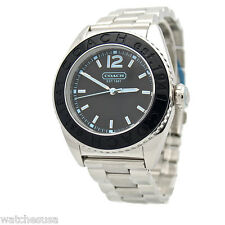 Coach Women's Boyfriend Black Dial Stainless Steel Watch 14501378