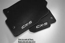 Mazda CX-5 Carpet Floor Mats in Charcoal Black(set of 4) 2013 2014 2015 2016