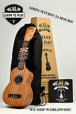 KALA LEARN TO PLAY UKULELE STARTER PACK WITH BAG, TUNING APP, AND ONLINE LESSONS