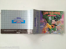 Notice/Manuel/Mode d'emploi mickey mouse land of illusion SEGA Game Gear PAL FR